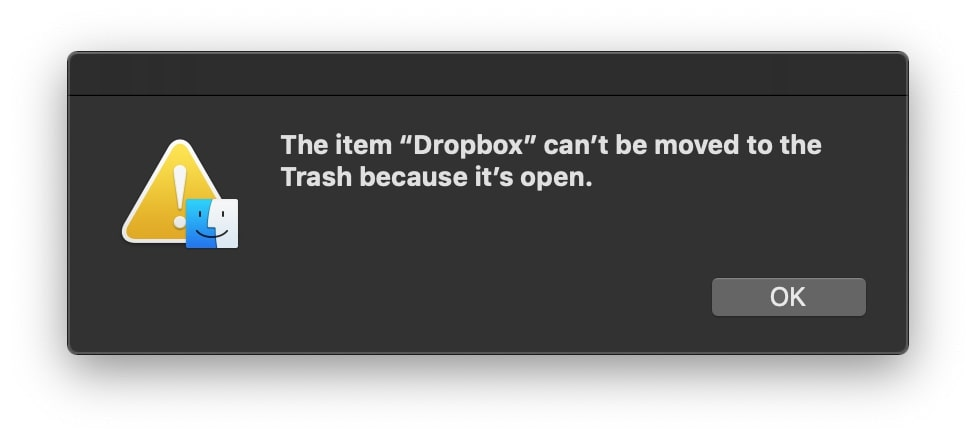 remove Dropbox from Mac
