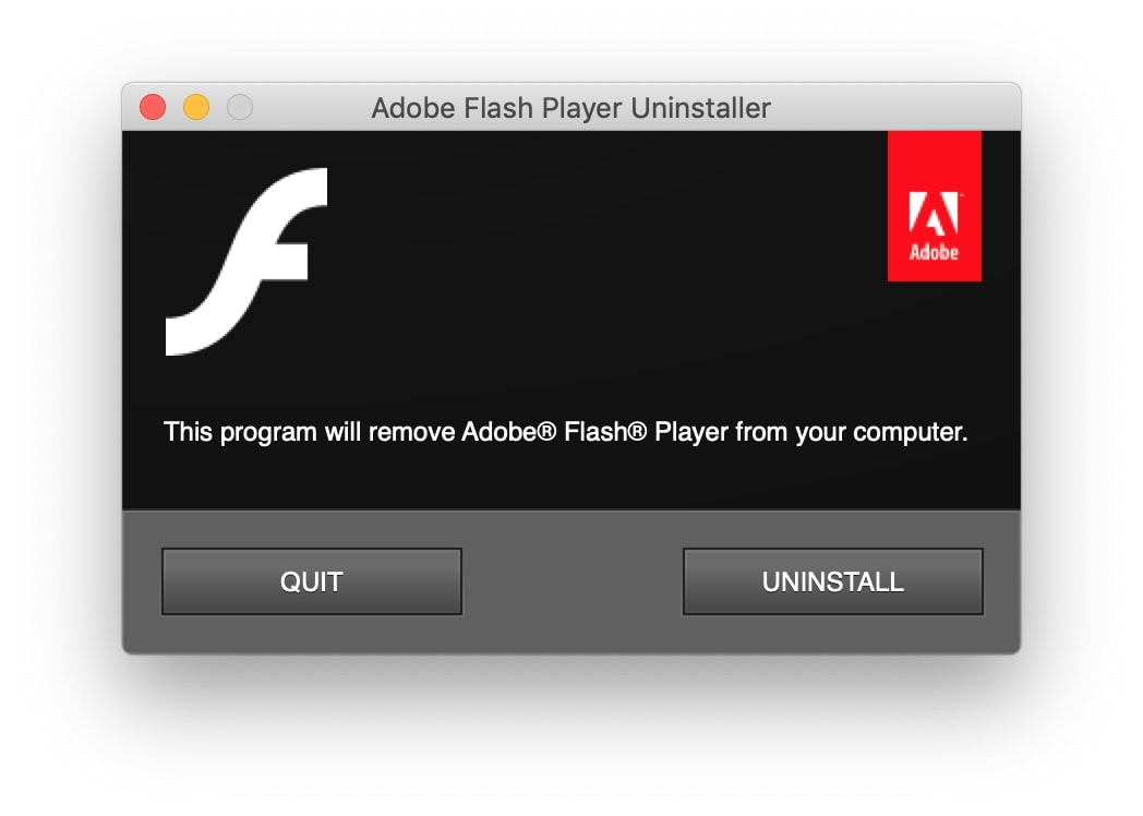 remove Adobe Flash Player from Mac