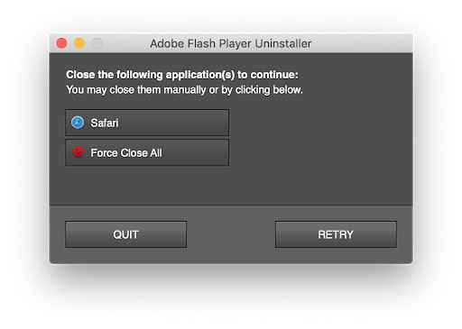 how to remove Adobe Flash Player from mac