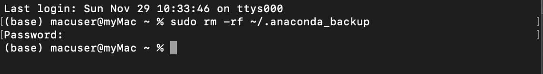 Delete the anaconda_backup folder