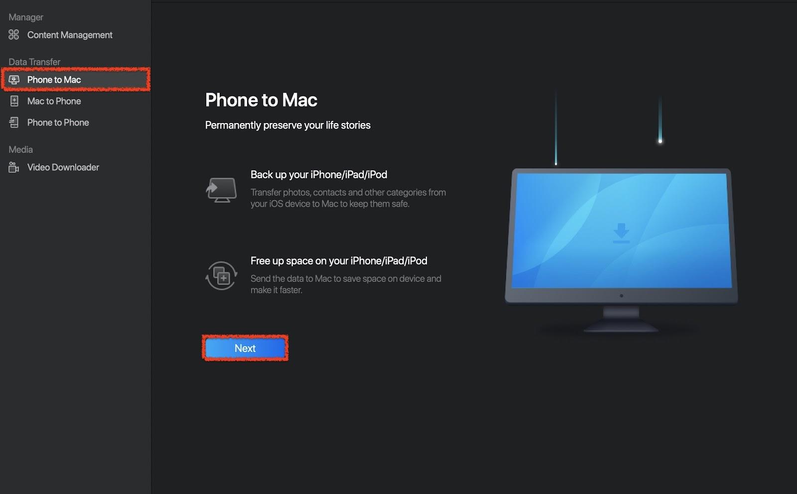 Phone to Mac option