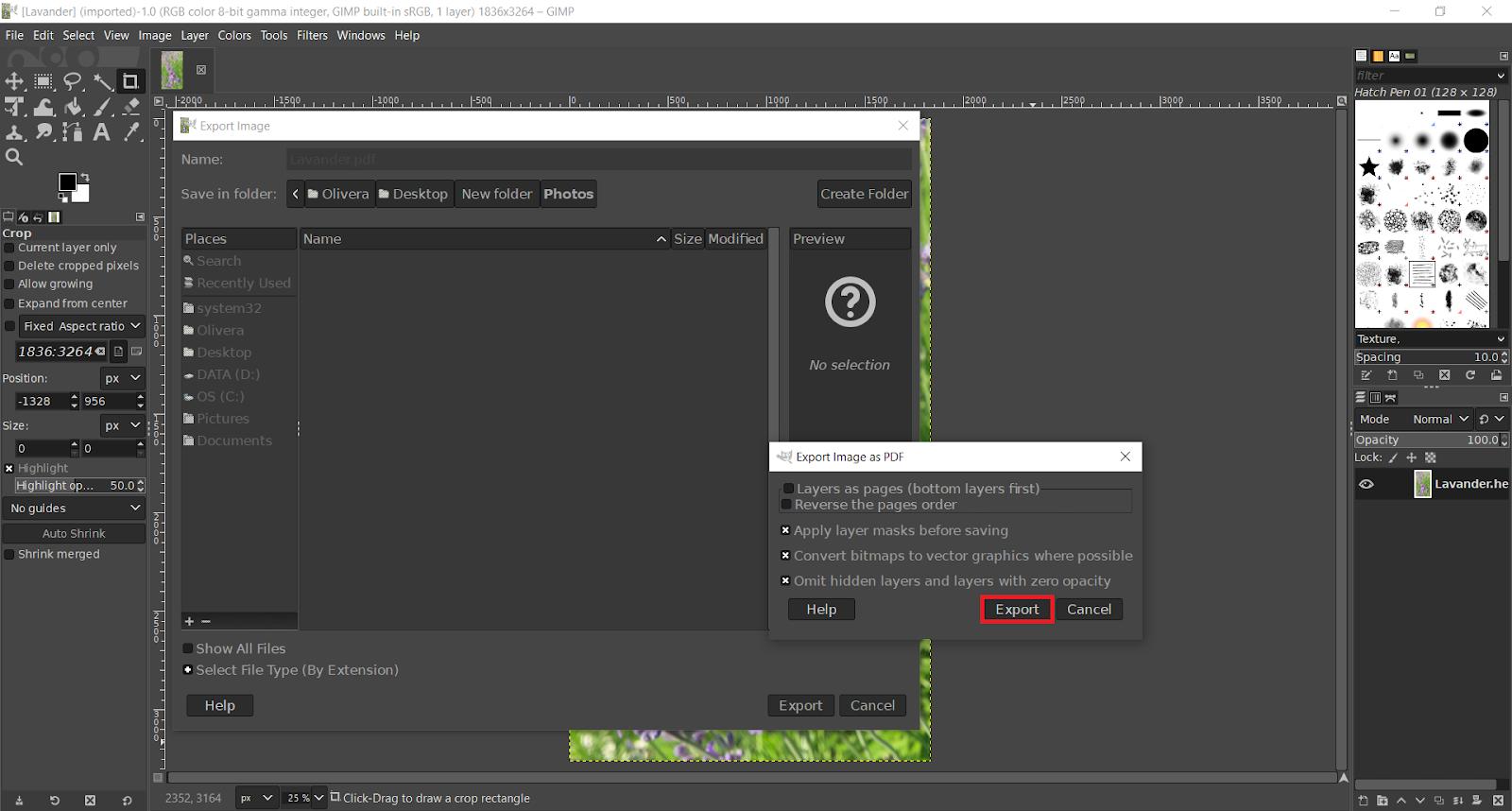 Export Image as PDF