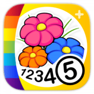 Color by Numbers - Flowers free download for Mac