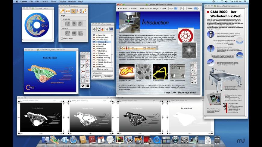 Cenon for Mac - review, screenshots