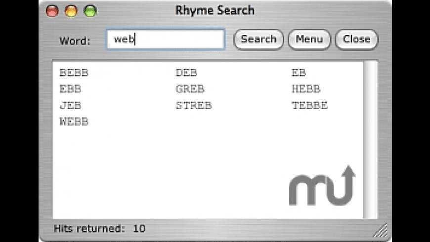 Rhyme Search for Mac - review, screenshots