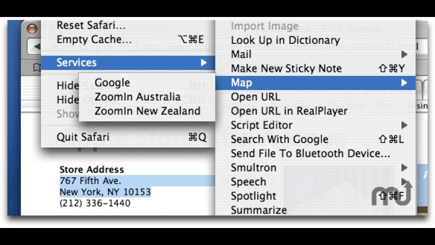 MappingService for Mac - review, screenshots
