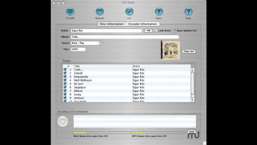 CD Stack for Mac - review, screenshots