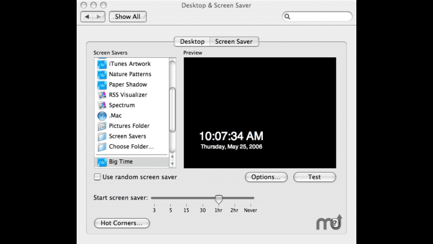Big Time Screen Saver for Mac - review, screenshots