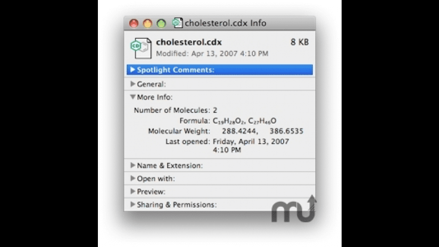 ChemSpotlight for Mac - review, screenshots