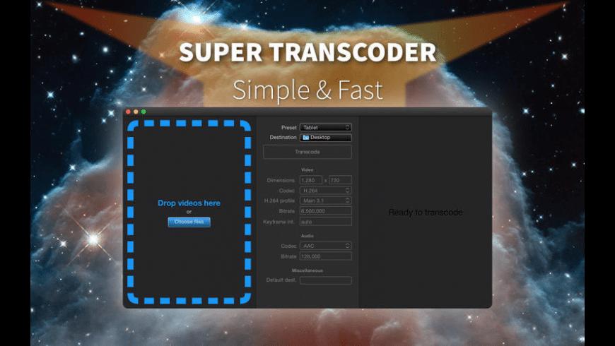 Super Transcoder for Mac - review, screenshots
