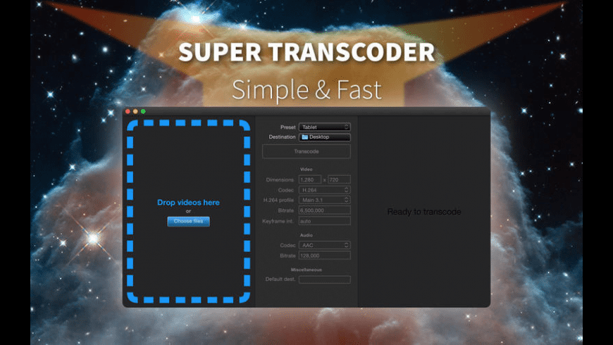 Super Transcoder for Mac - review, screenshots