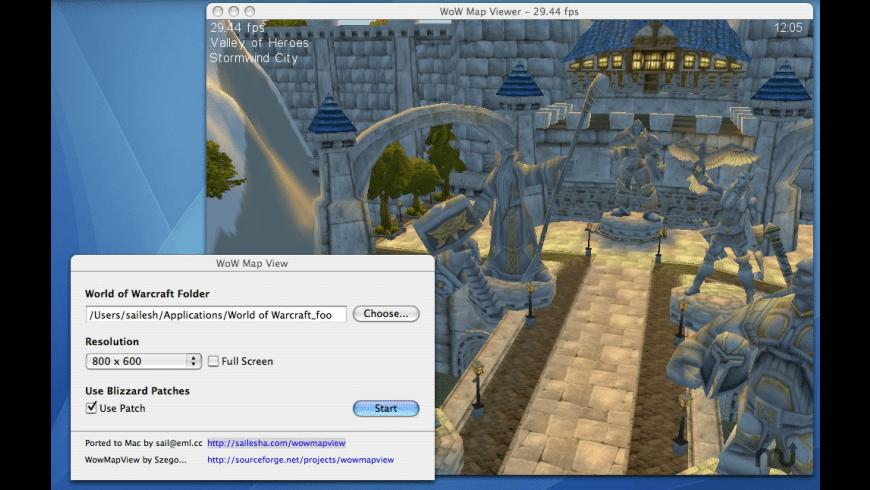WoWmapview for Mac - review, screenshots