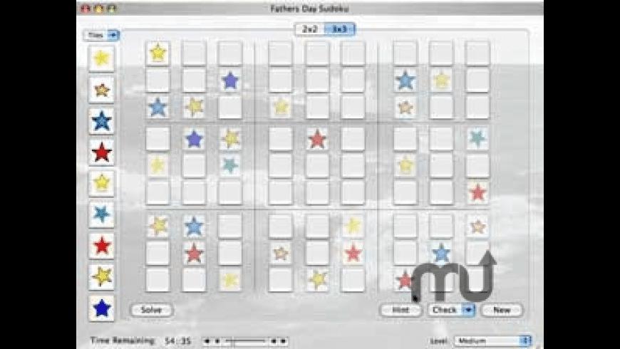 Fathers Day Sudoku for Mac - review, screenshots