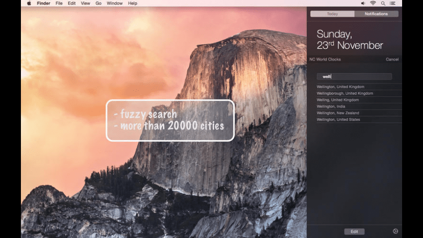 NC World Clocks for Mac - review, screenshots