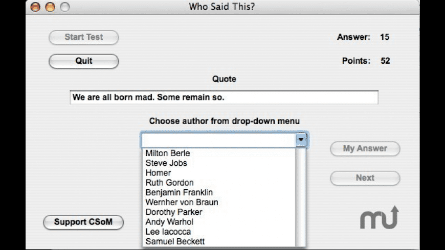 Who Said This? for Mac - review, screenshots
