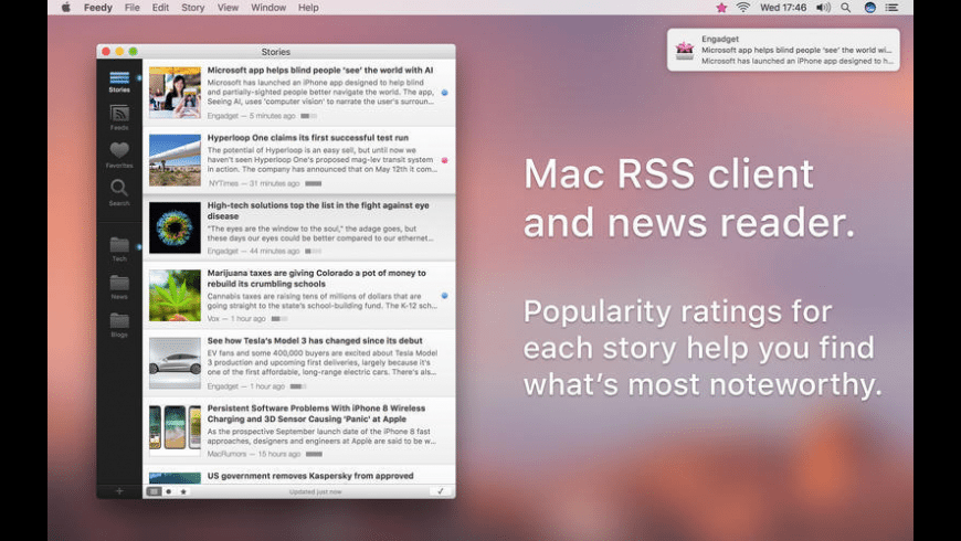 Feedy for Mac - review, screenshots