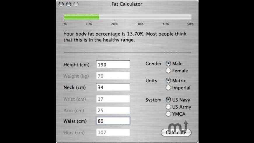 Fat Calculator for Mac - review, screenshots