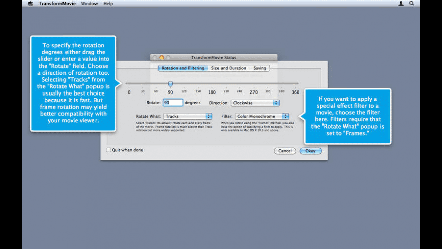 TransformMovie for Mac - review, screenshots