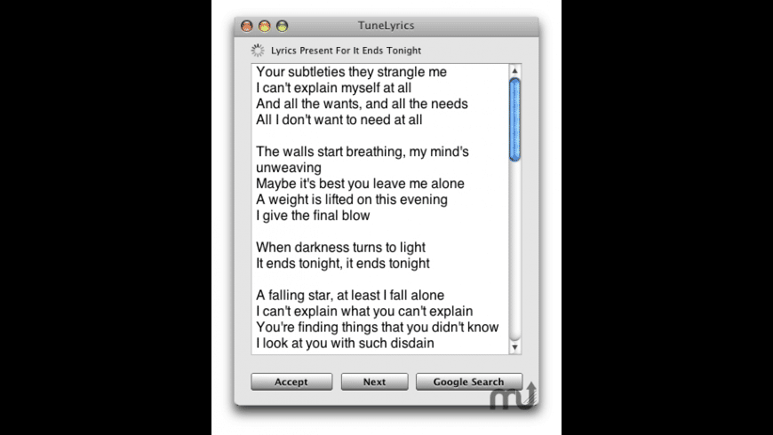 TuneLyrics for Mac - review, screenshots
