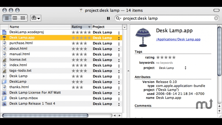 Desk Lamp for Mac - review, screenshots