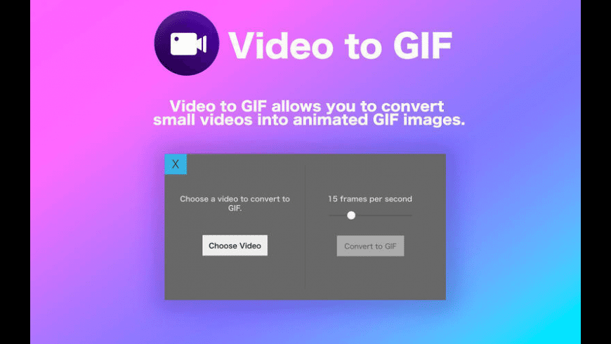 Video to GIF for Mac - review, screenshots