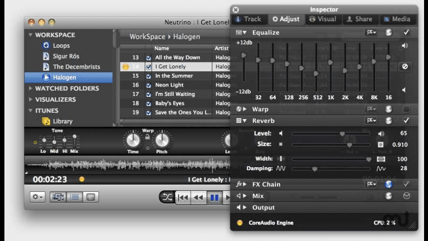 Neutrino for Mac - review, screenshots