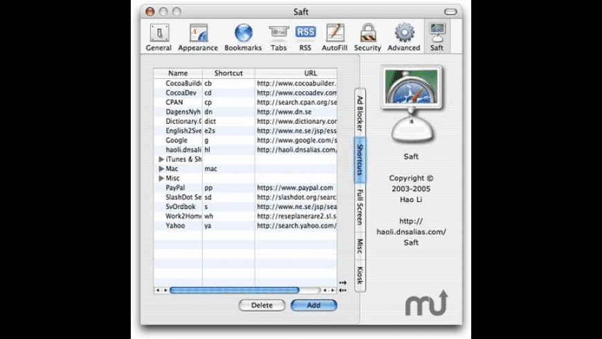 Saft for Mac - review, screenshots