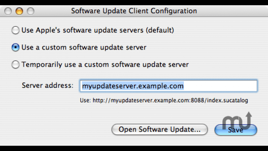 Software Update Client Config for Mac - review, screenshots