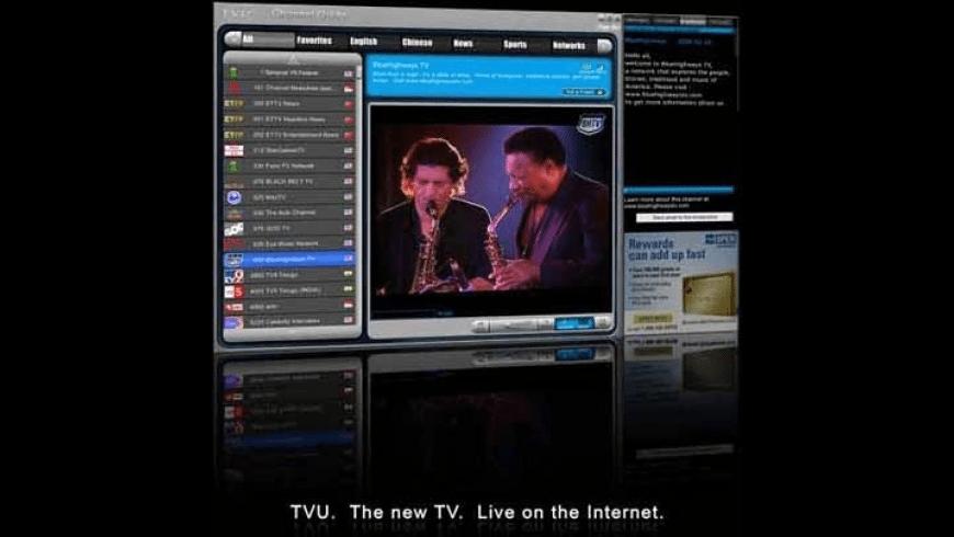 TVUPlayer for Mac - review, screenshots