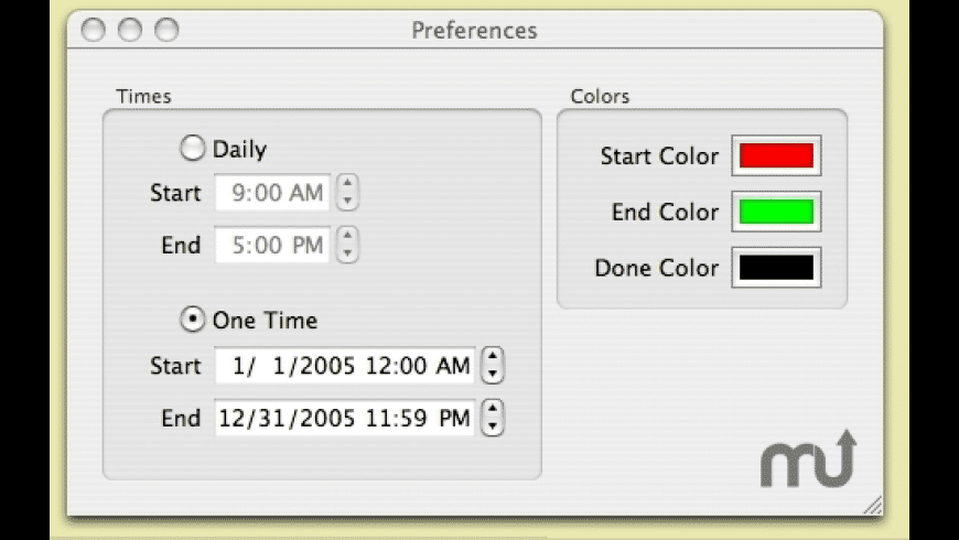 Countdown Clock for Mac - review, screenshots