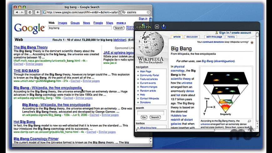 Cooliris Previews for Mac - review, screenshots