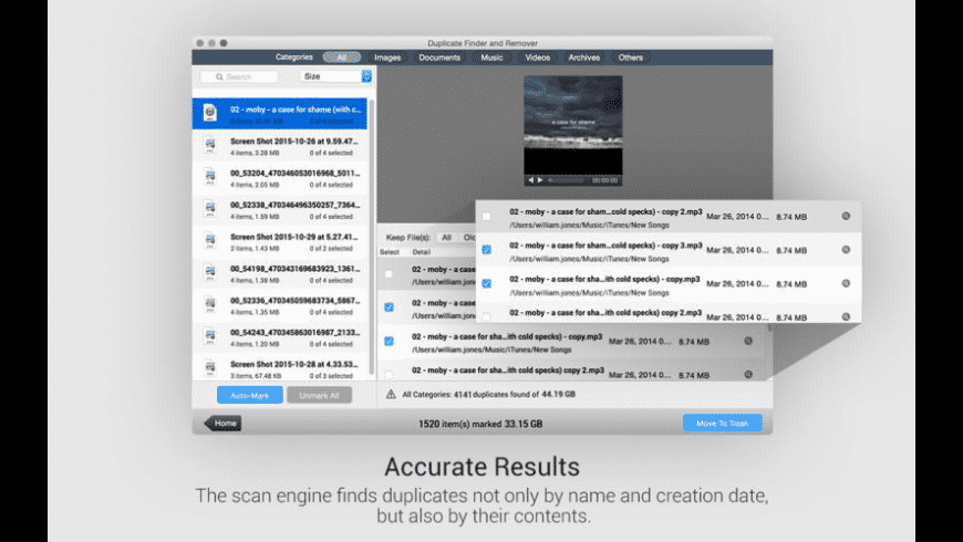 Duplicate Finder and Remover for Mac - review, screenshots