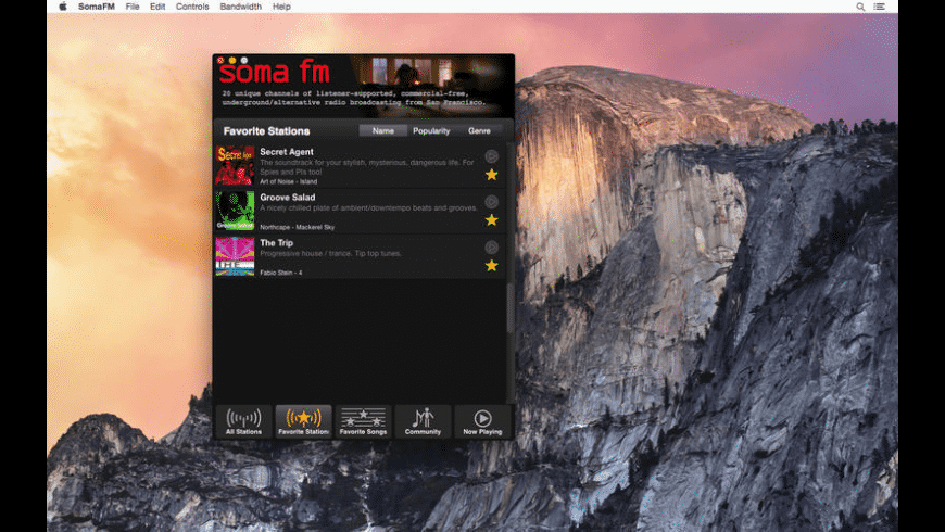 SomaFM Radio Player for Mac - review, screenshots