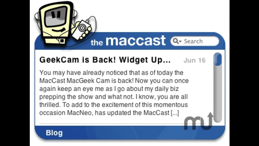 The maccast RSS Widget for Mac - review, screenshots