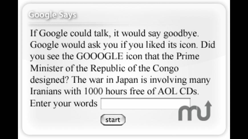Google Says for Mac - review, screenshots