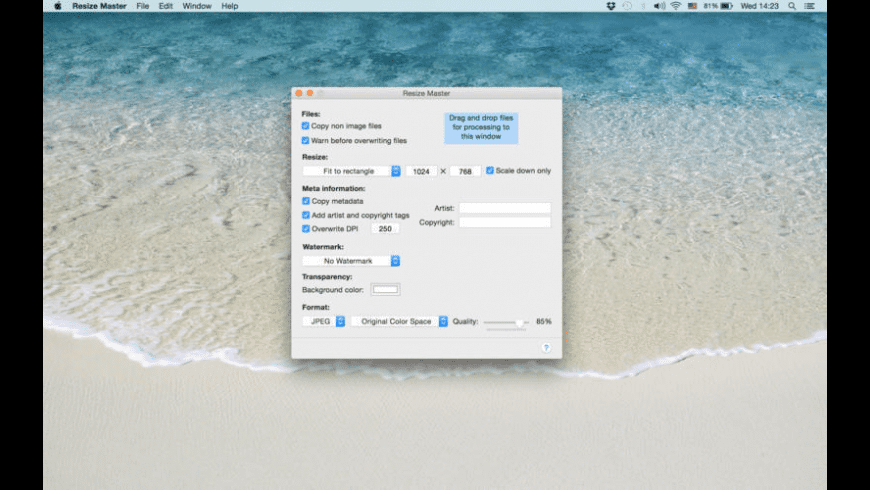 Resize Master for Mac - review, screenshots