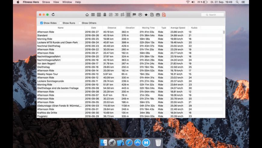 Fitness Hero for Mac - review, screenshots