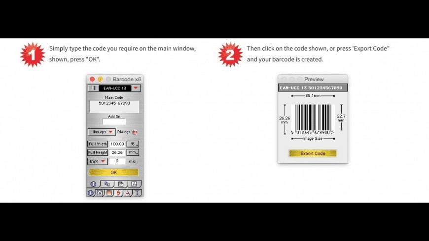 Barcode X for Mac - review, screenshots