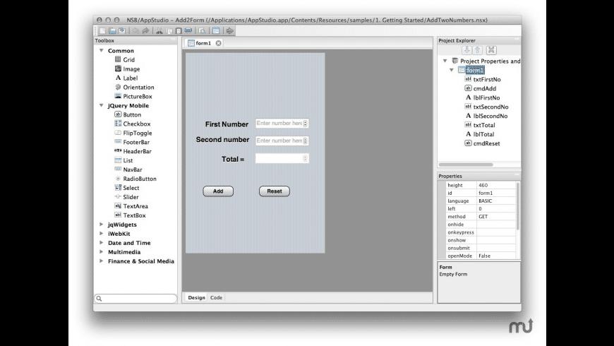 AppStudio for Mac - review, screenshots