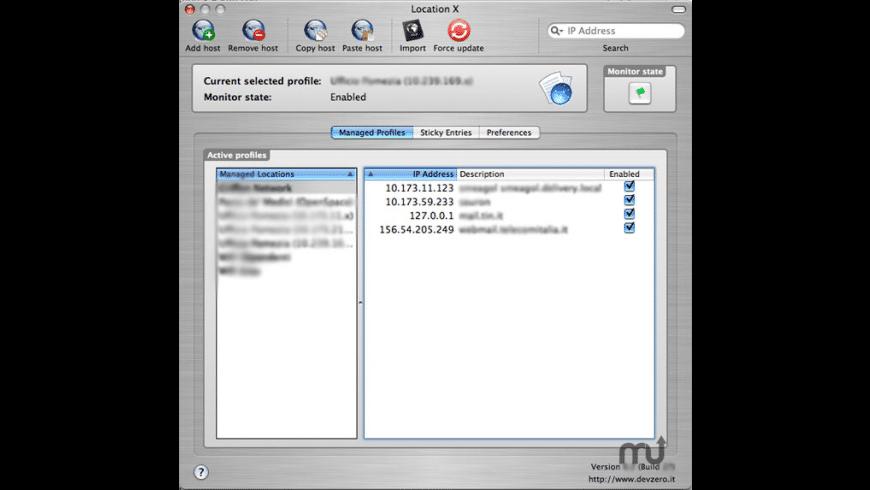 NetLocation X for Mac - review, screenshots