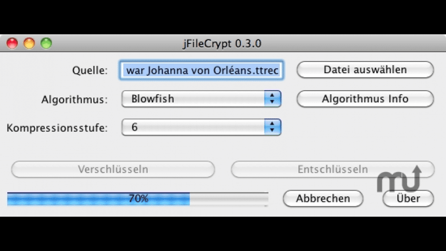 jFileCrypt for Mac - review, screenshots