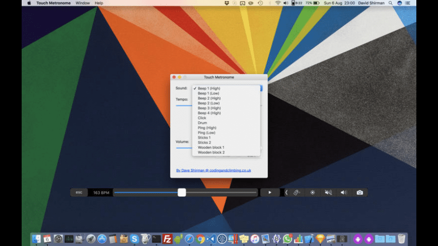 Touch Metronome for Mac - review, screenshots