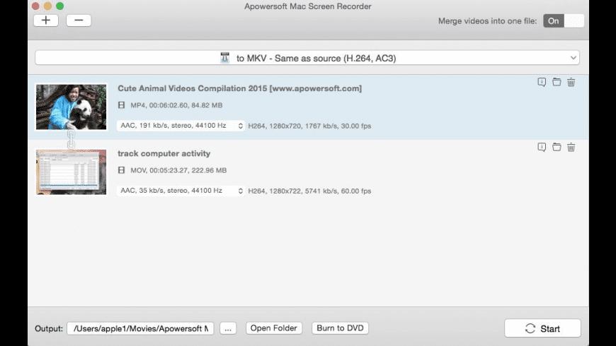 Apowersoft Mac Screen Recorder for Mac - review, screenshots