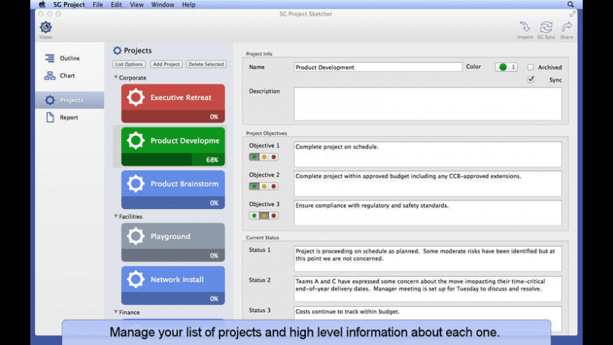SG Project Sketcher for Mac - review, screenshots