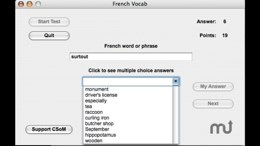 French Vocab for Mac - review, screenshots