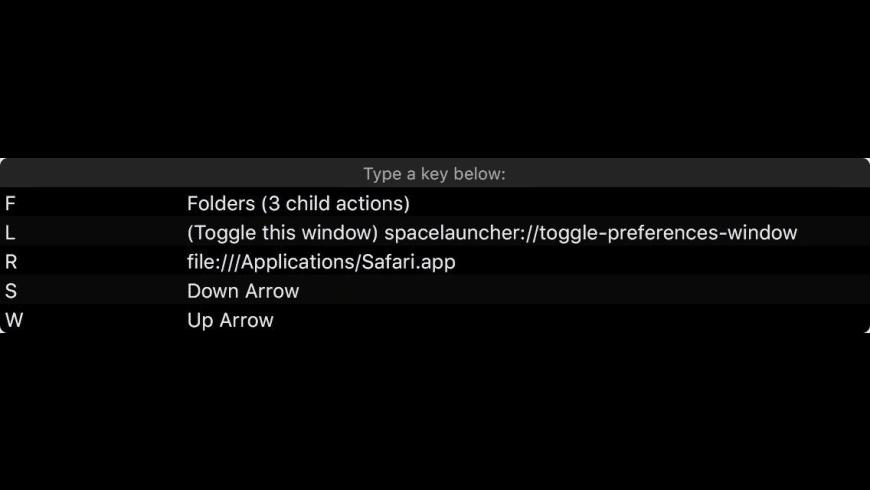 SpaceLauncher for Mac - review, screenshots