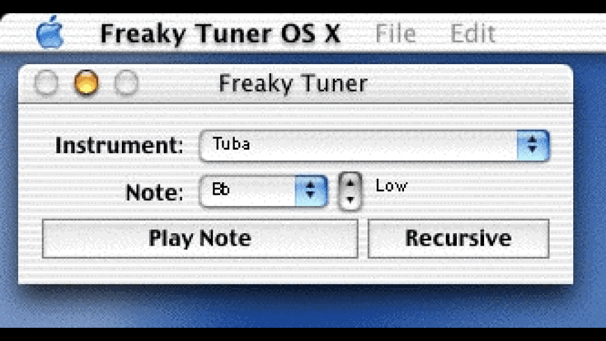 Freaky Tuner for Mac - review, screenshots
