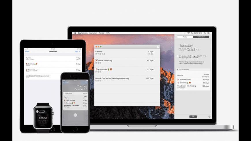 Countdowns for Mac - review, screenshots
