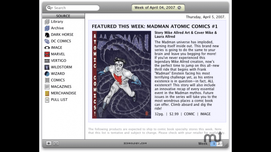 iComicsOnSale for Mac - review, screenshots