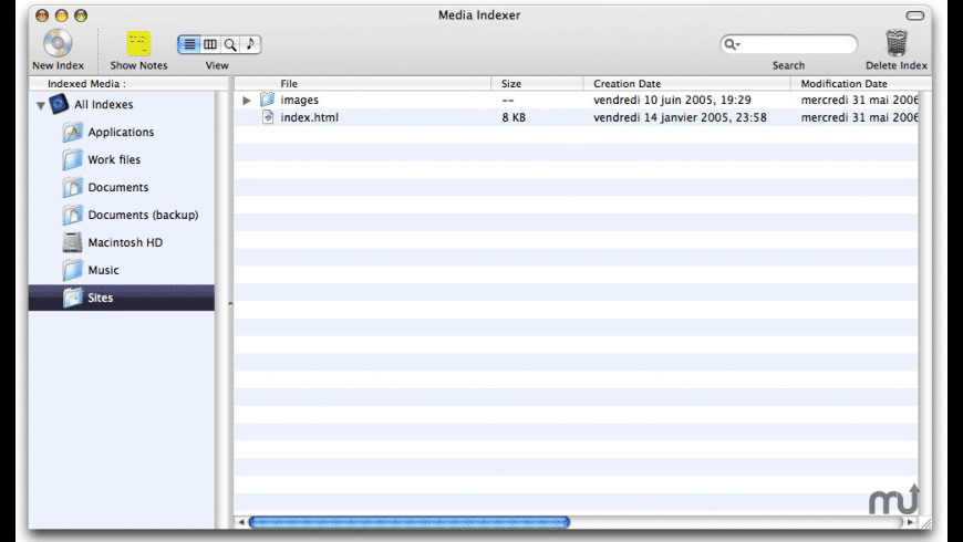 Media Indexer for Mac - review, screenshots